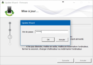 Mise à jour Firmware Flash code